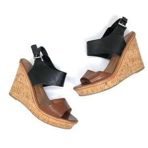 [Dolce Vita] Black and Brown Leather Wedges